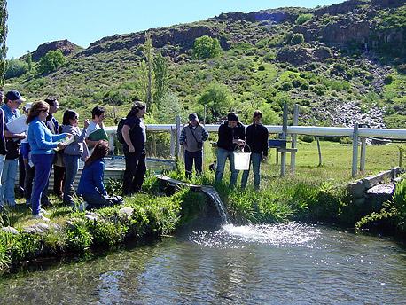 El cean organiza curso de piscicultura en peque a escala for Crianza de truchas en estanques