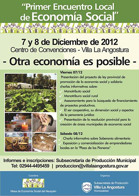 Primer Encuentro de Economía Social en Villa La Angostura ... - photo#24