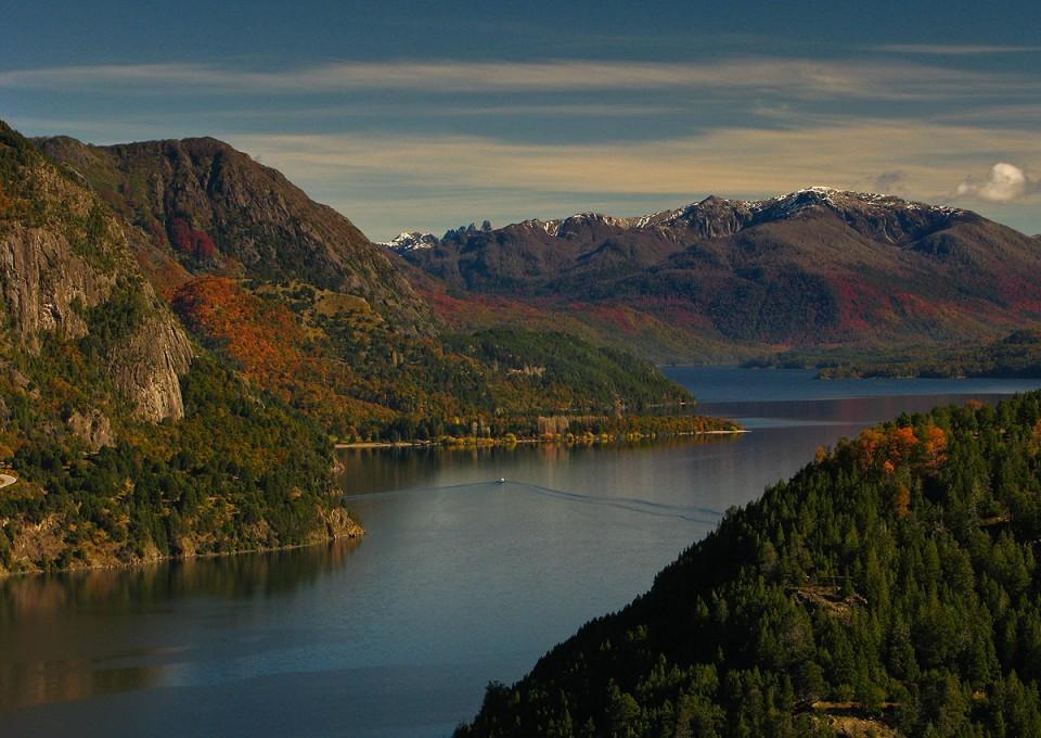 Lago Lacar desde mirador Arrayan