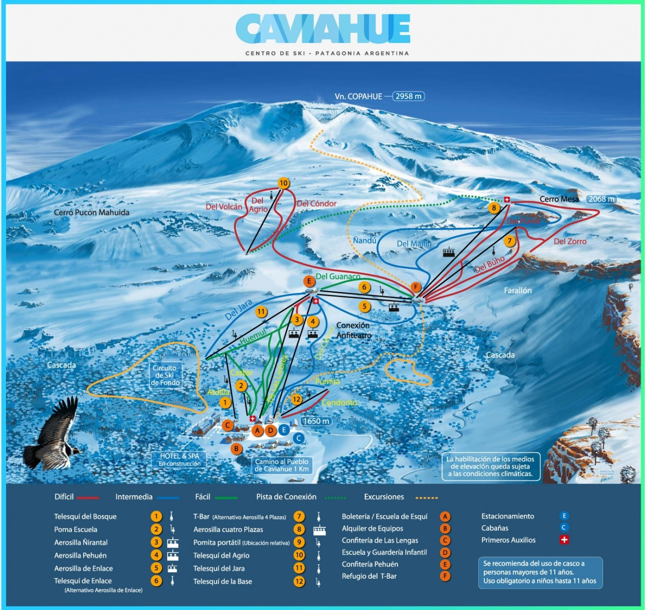 Mapa de pista de Caviahue