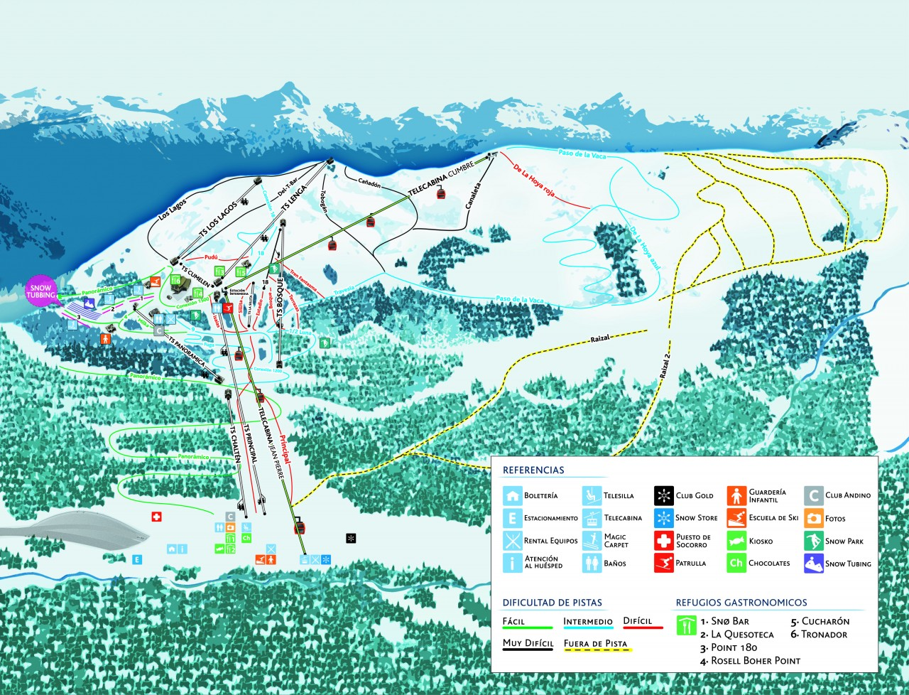 Mapa de Pistas Cerro Bayo