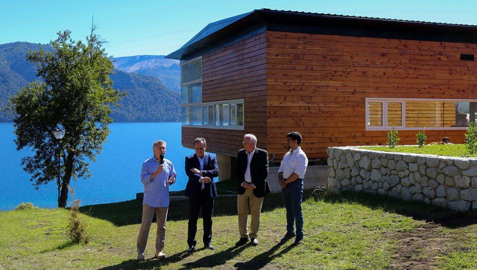 Villa Traful 28-12-2016...Macri y Brillo inauguraron un centro d