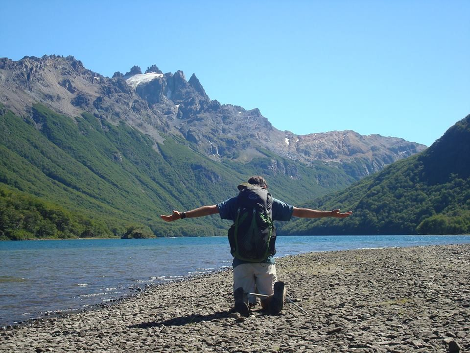 Lago Bagillt Final de la Huella Andina